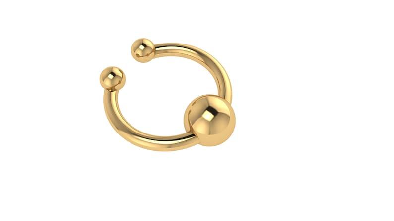 14k Septum 14K Solid Gold Nose Ring Gold Septum Rose Gold Septum Nose Ring Horseshoe Septum White Gold 14k Nose Ring Septum Ring