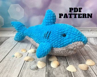 Pattern shark, amigurumi crochet pattern shark, amigurumi pattern, crocheted shark pattern, PDF crochet pattern