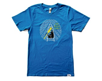 No Wake Zone 100% Organic Cotton Unisex T-shirt | Adventure Pup | Made in USA