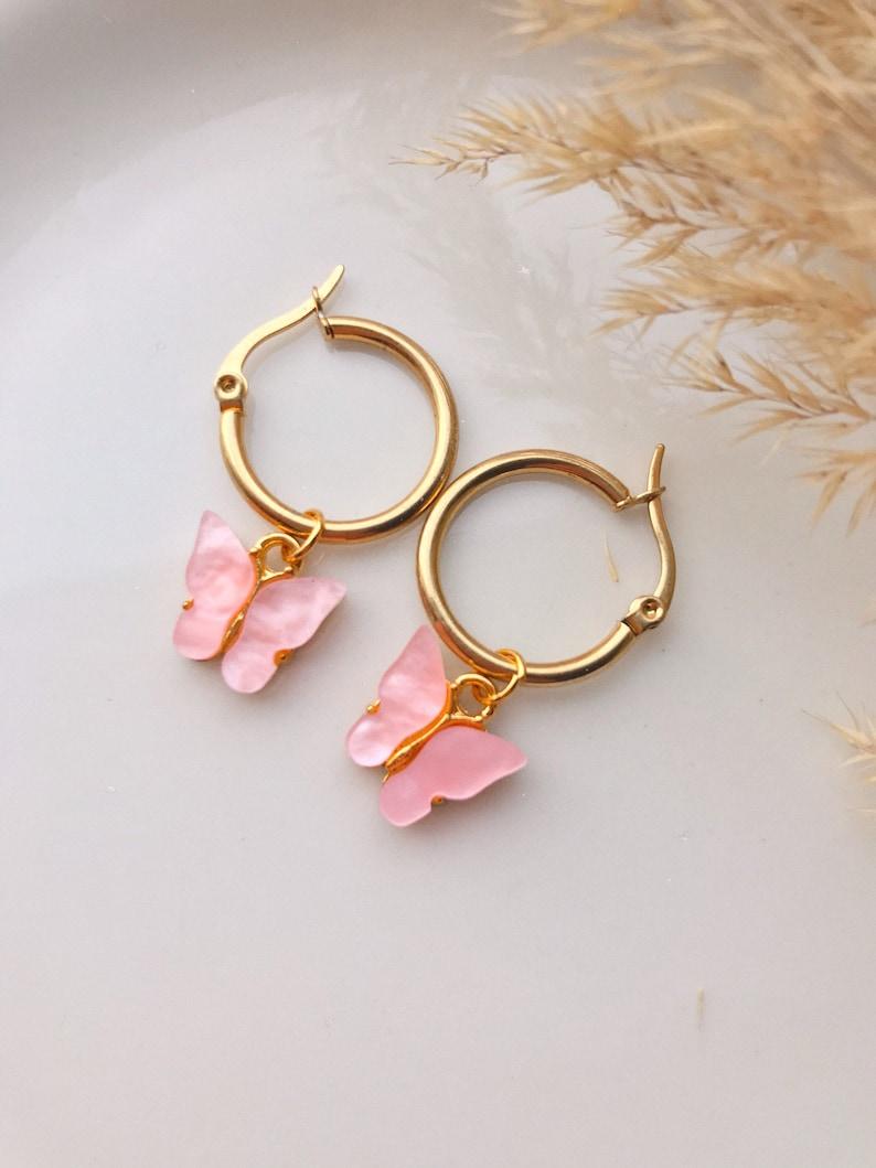 Aruba handmade earrings with cute butterfly pendant summer earrings