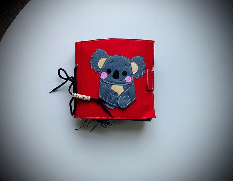 Felt Book Twitterpated Curious Koala Book Toddler Activity Book Montessori Book Sensory Book Busy Book Quiet Book