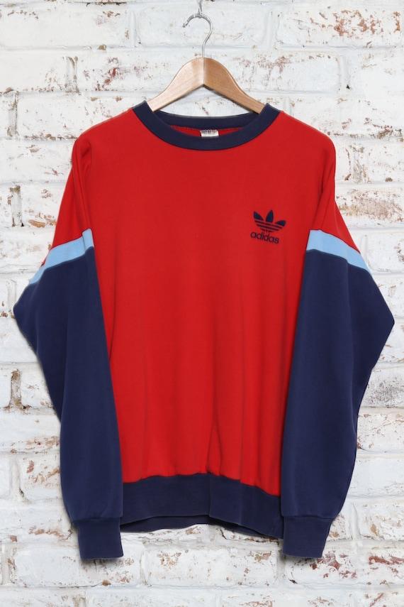 Vintage Adidas 90s Crewneck Velour Logo Sweatshirt