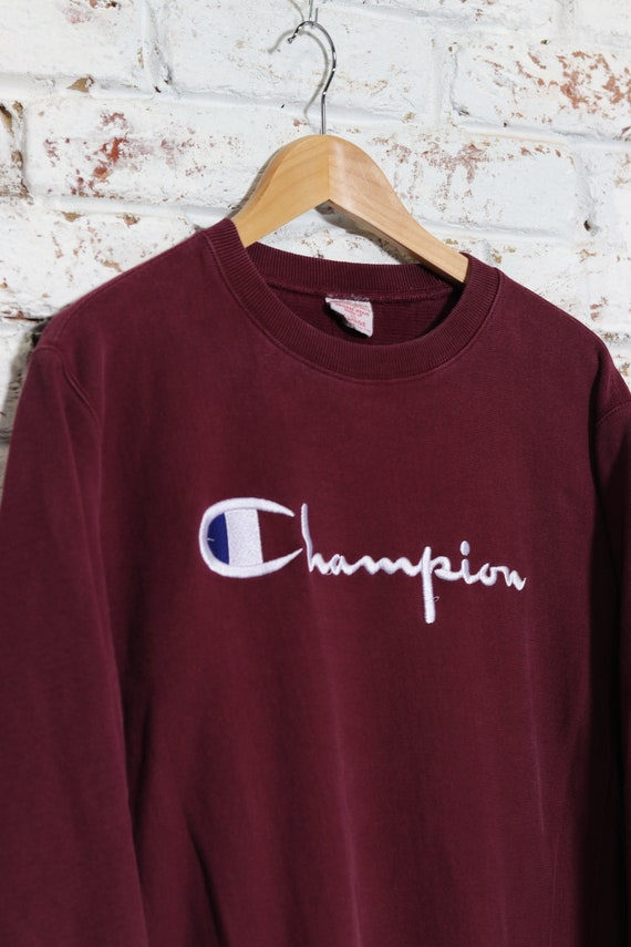 Vintage Champion Reverse Weave Spell Out Sweatshi… - image 1