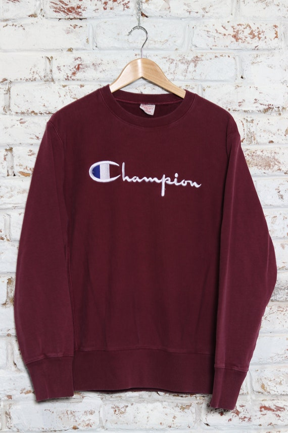 Vintage Champion Reverse Weave Spell Out Sweatshi… - image 2