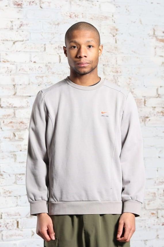 Vintage Nike Logo Sweatshirt Grey