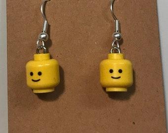 studs built of Lego\u00ae bricks Brick earrings