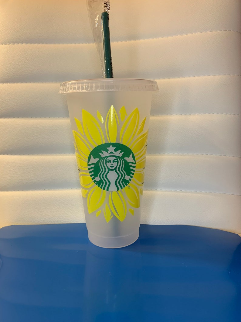 Starbucks sunflower personalized cup