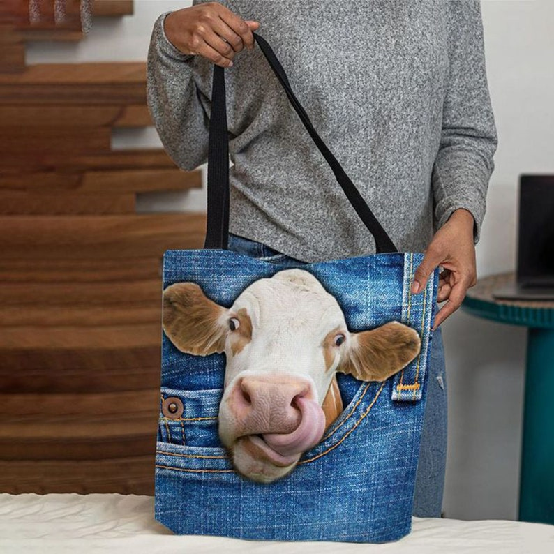Canvas Totes Canvas Tote Bags Clear Tote Tags Canvas Bags Custom Tote Bags Cow Tounge Faux Jean Tote Bags Personalized Tote