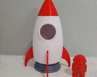 Education Toy Toy For Kids Space Rocket Toy Wooden Space Ship Handmade Wood Toy Wooden Rocket Toy Pretennd to Play for Boys and Girls
