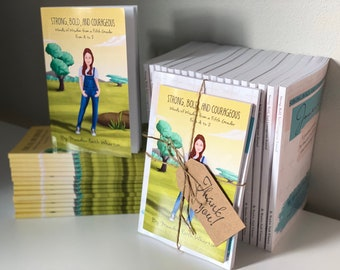 Preteen Book & Journal Bundle; Strong, Bold, and Courageous: Words of Wisdom from a Fifth Grader From A to Z; Gift Book for Kids + Teens