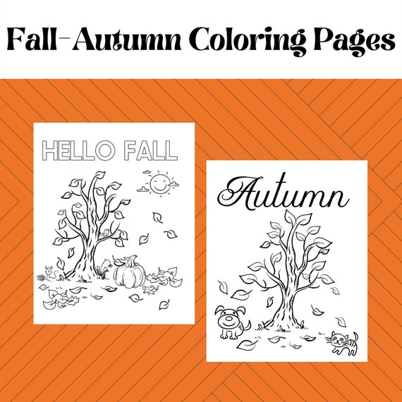 Fall-Autumn Coloring Pages for Children