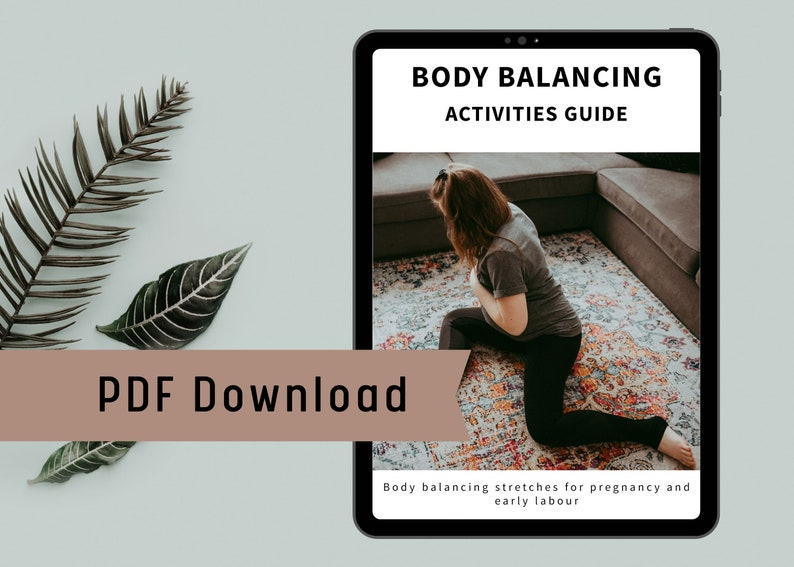 Body Balancing Actitivies Guide. Instant download. Pregnancy & image 0