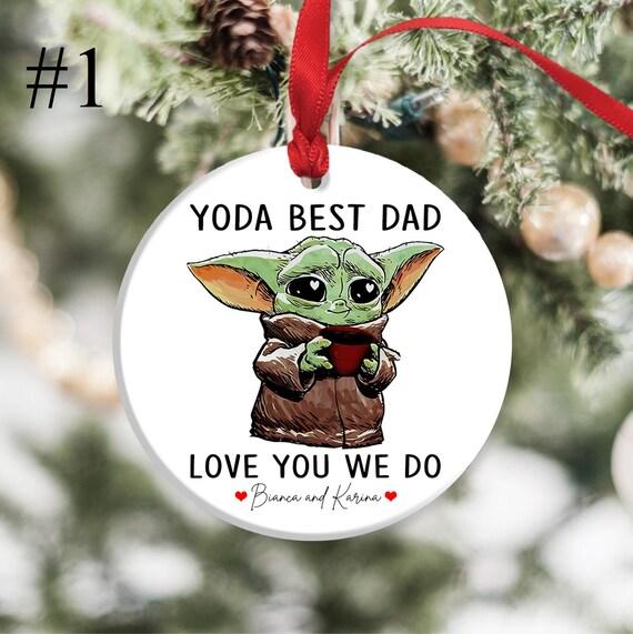 Yoda best baby yoda Christmas tree bauble decoration personalised keepsake