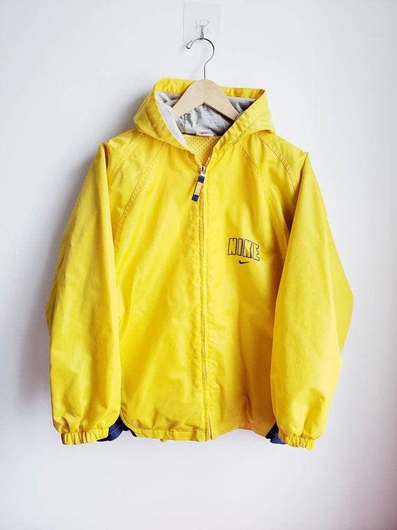 Vintage 90s Yellow Nike Rain Jacket | Men's Large
