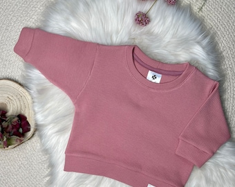Oversized Sweater Baby/Child Size 56-128 made of waffle knit jersey (color selection) unisex