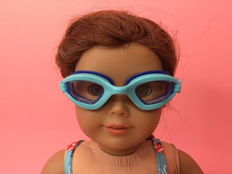 American Girl Doll Accessory Aqua Swim Goggles