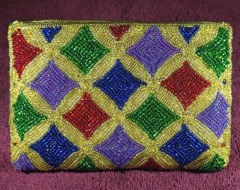 Black and jeweled tone envelope velveteen clutch with shoulder strapblack evening clutch1990s evening clutchpurse