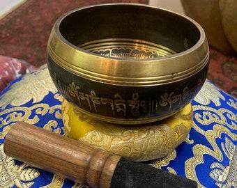 7 Metal Tibetan Om Singing Bowl