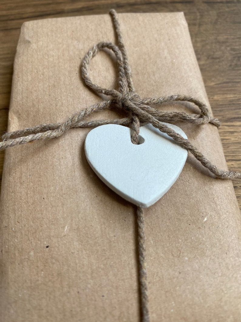 gift embellishments personalised initials present wrapping heart decorations Mini heart gift tags