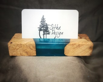 Live Edge Buckeye Burl Business Card Holder