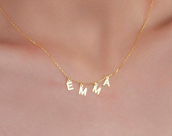 Personalized Name Necklace - Letter Name Necklace - Personalized Gift - Dangle Name Necklace