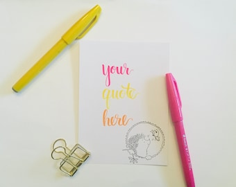 Custom Hand Lettered Card
