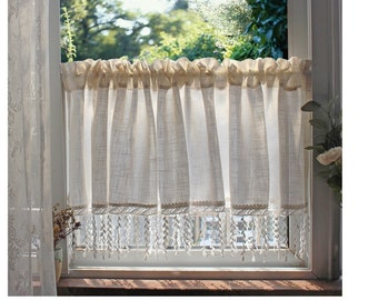 Lace Cafe Curtains Etsy