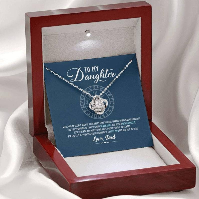 Birthday Gift For Daughter To My Daughter Love Knot Necklace Love You For The Rest Of Mine