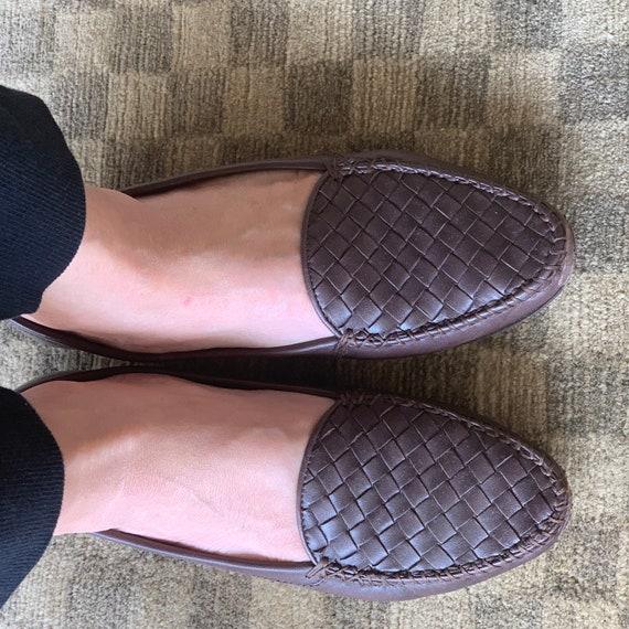 Y2K Bottega Veneta Intrecciato Brown Loafers Sz 6