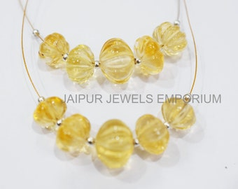 Citrine Fancy Shape Carved Beads AA Quality Citrine Drops Shape Beads Beads For Jewelry Making