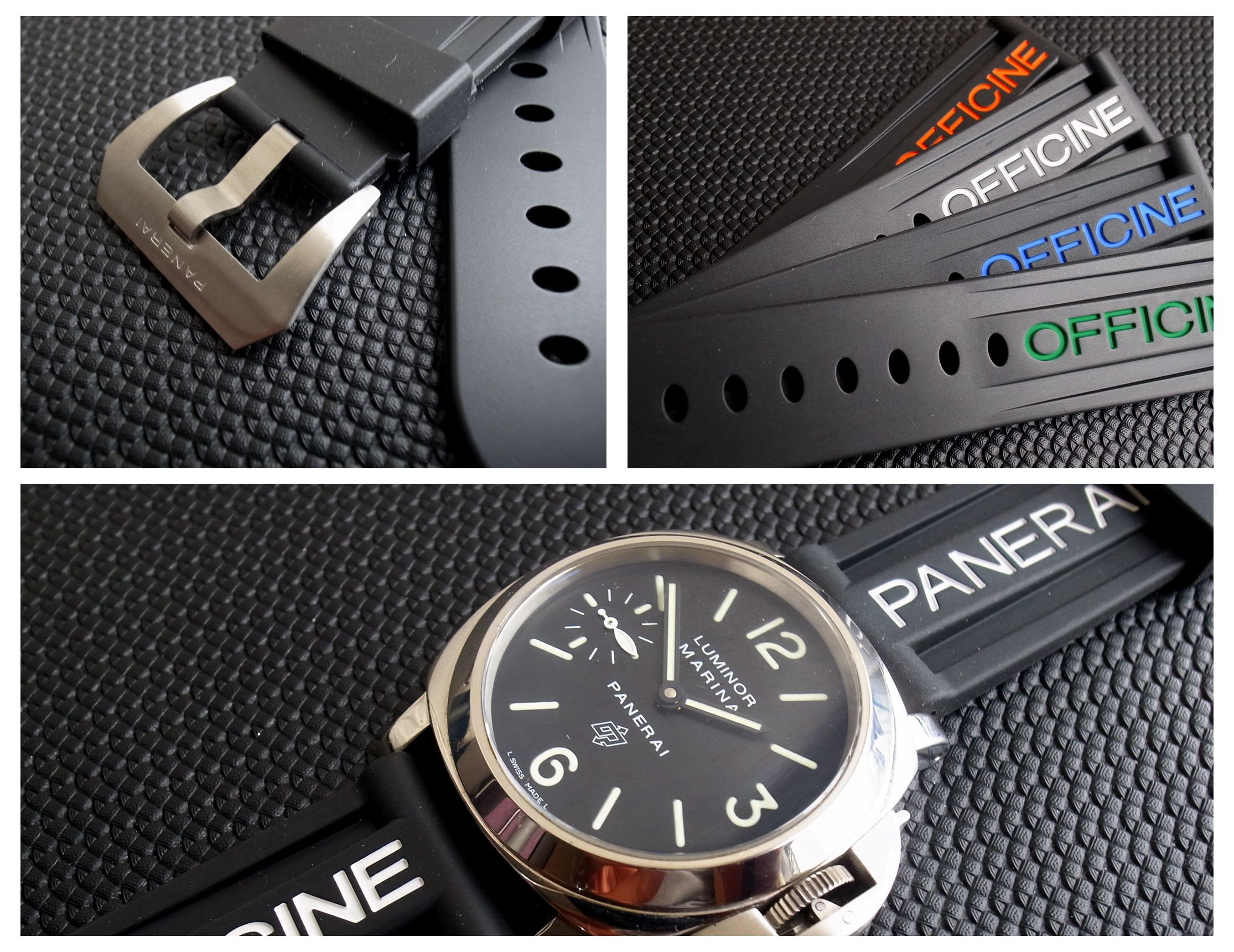 PAM 24mm Rubber Watch Band Strap fit for Panerai