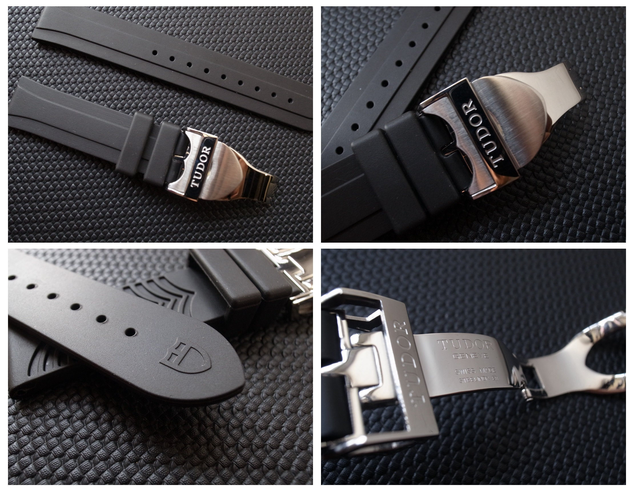 TUDOR 20mm Rubber Watch Strap Band + deployment CLASP