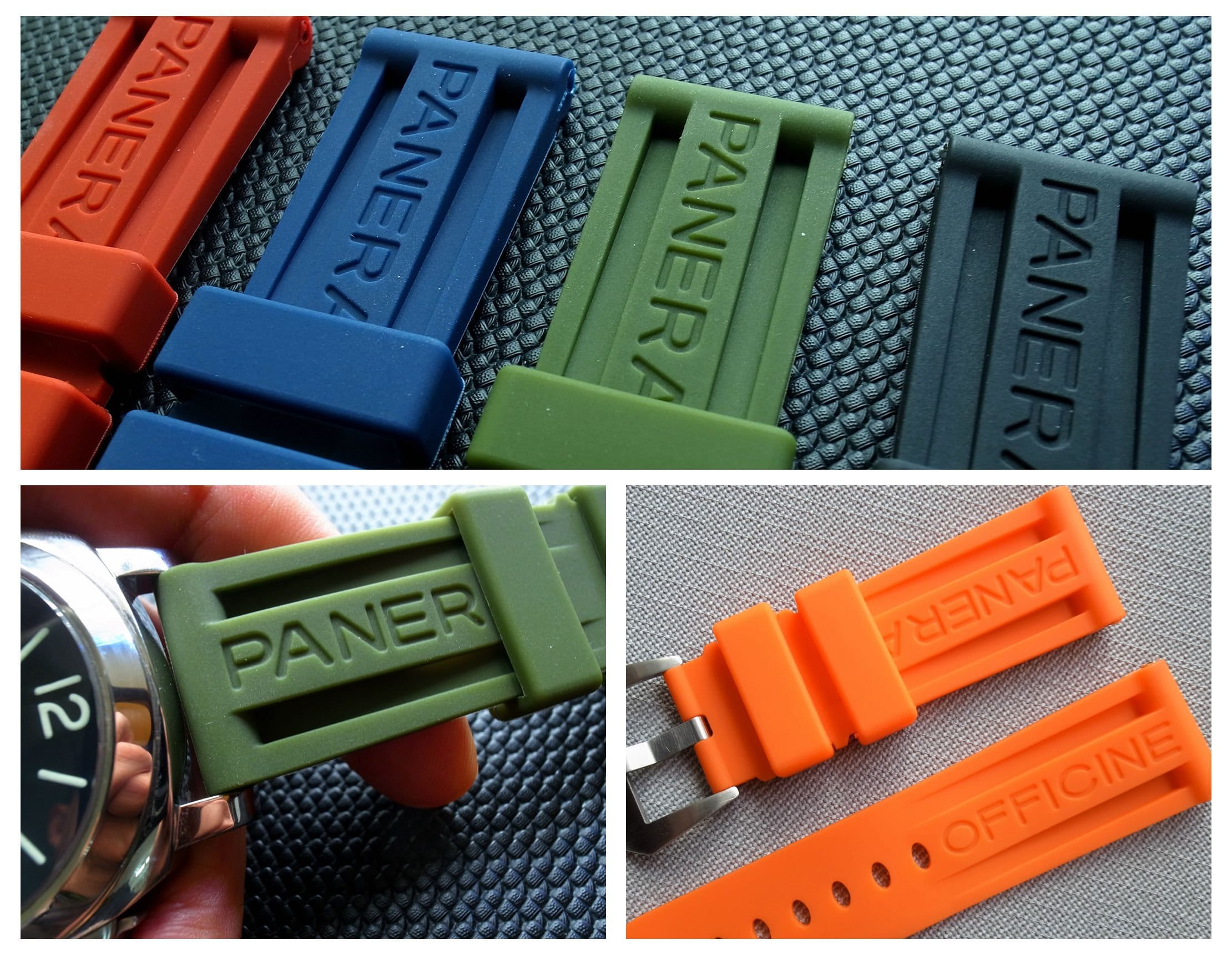 24mm Rubber Watch Band Strap with Buckle fit for Panerai