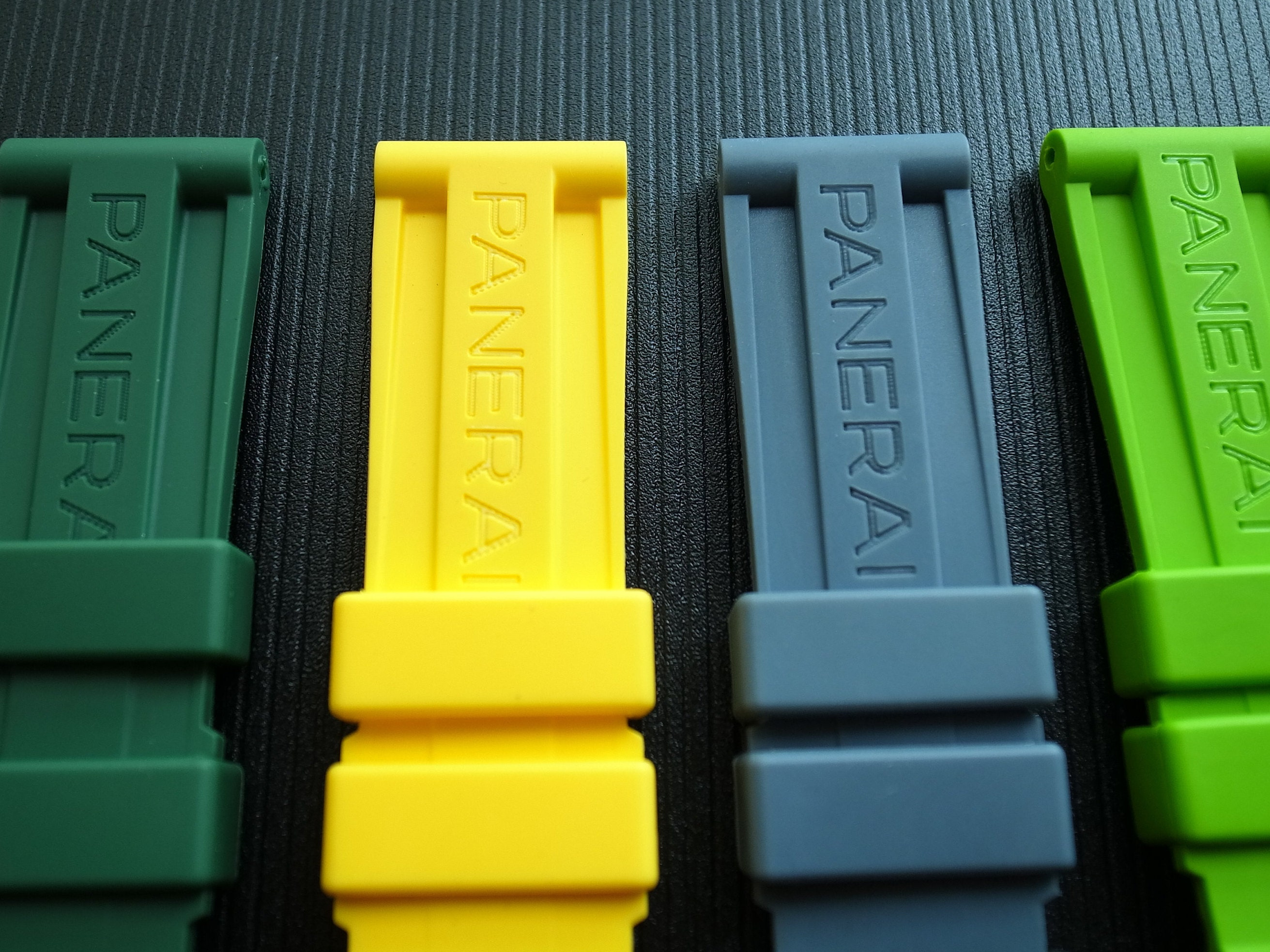 PAM 24mm Rubber Watch Band Strap fit for Panerai color