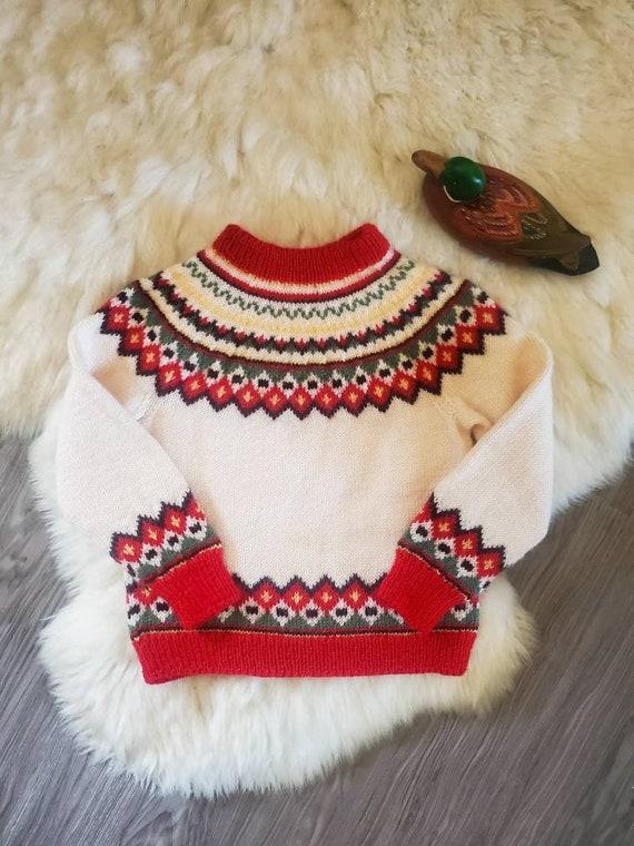 Vintage Fair Isle Children's Sweater