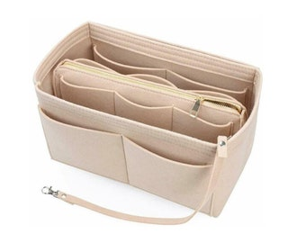 Longchamp Large Le Pliage Customizable Organizer Tote Felt Purse Insert Cosmetic Makeup Diaper Hand Bag Belongings Pocket