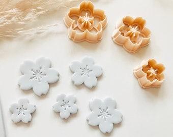 Cherry Blossom Sakura Japanese Flower Polymer clay cutter Blossoms 桜 櫻 さくら 花