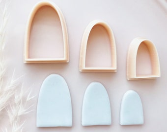 Rounded Abstract Arch Dome Shape - Polymer clay cutters - Polymer clay tools