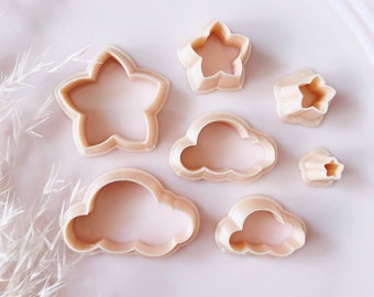 Star and Cloud Shape Polymer Clay Jewellery Cutter - Polymer Clay Tools