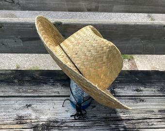 Straw hat with adjustable string, eco friendly, farming, gardening hat, sun hat