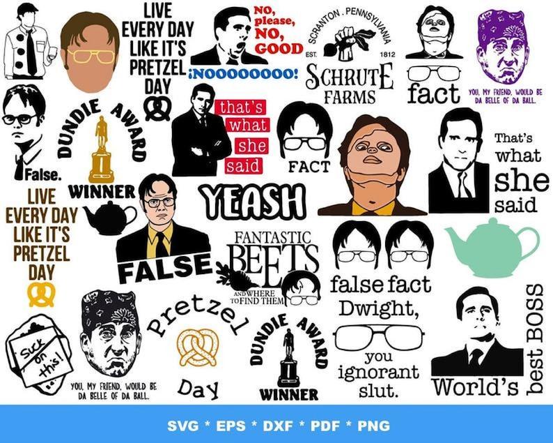 1000 The Office TV Show SVG Bundle 1.0 | Etsy