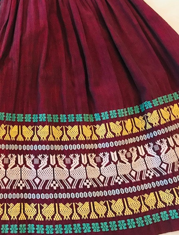 Vintage Embroidered Guatemalan Skirt