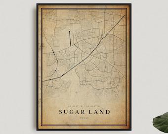 TEXAS Street Sign tx city state us wall road gift I LOVE SUGAR LAND