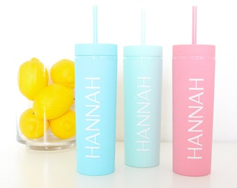 Personalised Bottle Hot Cold Cup Tumbler UK | Reusable Birthday Gift Straw | Travel | Custom Gym Bottle | Water | Starbucks Inspired | Name