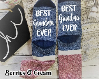 Personalised Socks Can Have Any Wording You want Make a Fantastic Gift Printed With Your Own Words In White Or Yellow Text Handmade
