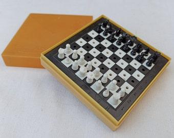 Magnetic chess set  Travel chess   Pocket chess  Soviet chess vintage  travelling chess ussr  Chess magnet