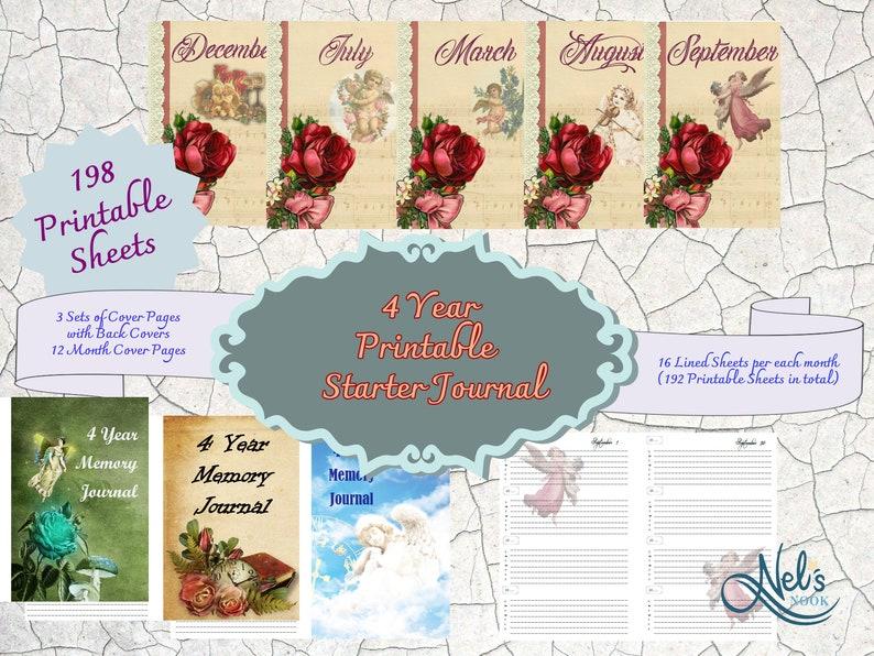 4 Year Starter Journal/Printable/DIY journal Memory Journal image 0
