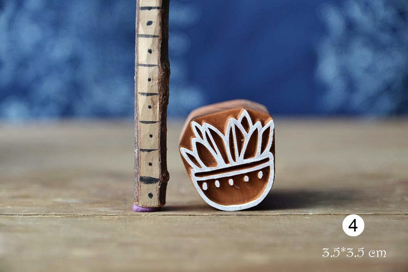 Leather Handmade Ethnic Crafts Cactus Cacti Wooden Stamp For Block Printing Textile Pottery Gift Idea. Cards Print Making