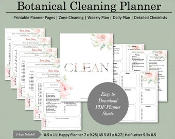 Feminine Printable Cleaning Schedule | FlyLady
