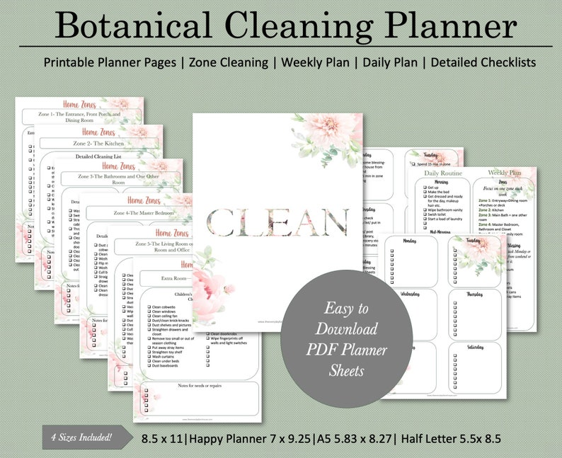 Feminine Printable Cleaning Schedule  FlyLady image 0